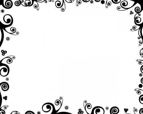 juoda & nbsp, balta, garbanotas, švelnus, sienos, rėmas, apskritimai, linijos, dizainai, garbanotas spygliuotas rėmas 1