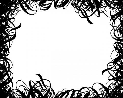 juoda & nbsp, balta, garbanotas, švelnus, sienos, rėmas, apskritimai, linijos, dizainai, garbanotas kaklelinis rėmas 2