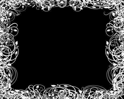juoda & nbsp, balta, garbanotas, švelnus, sienos, rėmas, apskritimai, linijos, dizainai, fonas, garbanotas gobtukas rėmas 3