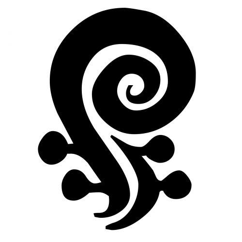 garbanotas, simbolis, juoda, siluetas, balta, izoliuotas, fonas, garbanotas simbolis
