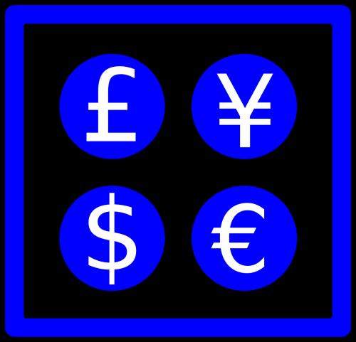 valiutos ženklai,pinigų ženklai,valiutos simboliai,pinigų simboliai,britų svaras,Janano jena,Amerikos doleris,euras,jena,dolerio simbolis,jenos simbolis,svaras simbolis,euro simbolis,nemokama vektorinė grafika