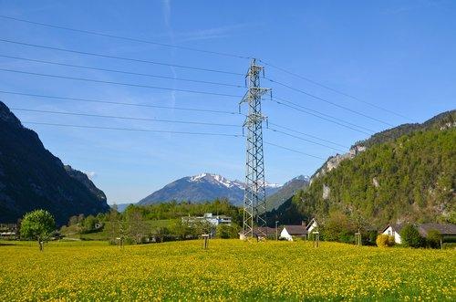 Dabartinis, elektros energijos, tvarumas, energijos, energijos revoliucija, aukštos įtampos, stulpas, elektros energijos rinkos, jėgos linija, strommast, linija, pobūdį, kabelis, srovei laidžios, Šveicarija, kalnai