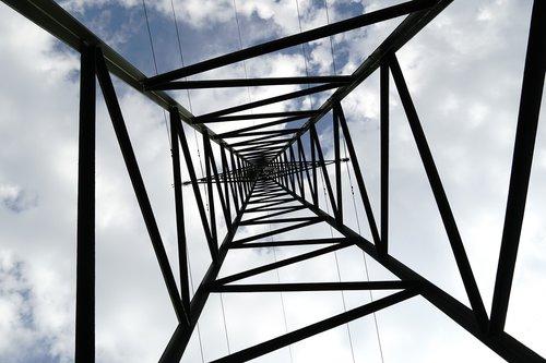 Dabartinis, energijos, dangus, stiebas, elektros energijos, elektros energijos tiekimo, technologijos, aukštos įtampos, elektrinis, Įtampa, elektros energijos gamybos