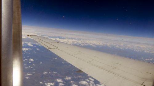 lėktuvas, kelionė, kreivė, žemė, oras, antena, žemės kreivė