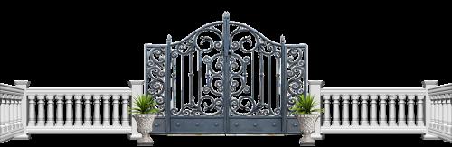 Iškirpti, klipas, vartai, tvora, bannister, baliustraida, sodas, kraštovaizdis, lauke, veja, kiemas, formalus, įėjimas, aplinka