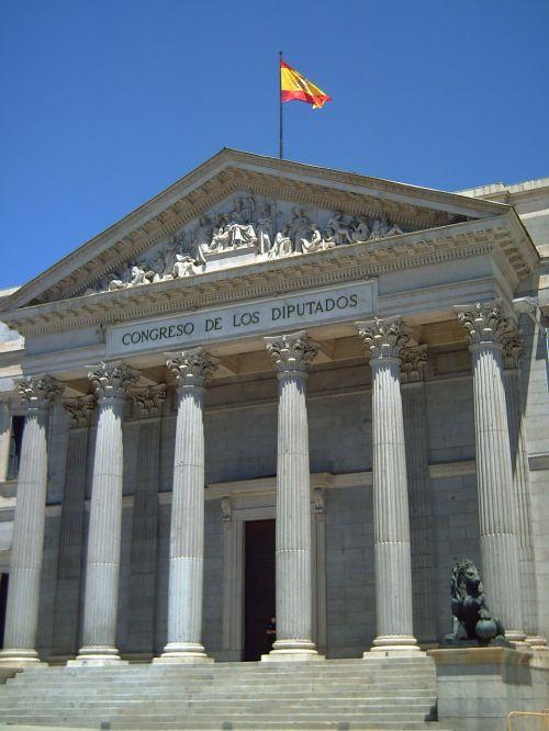 gabalai,parlamentas,nariai,Ispanija,Madride