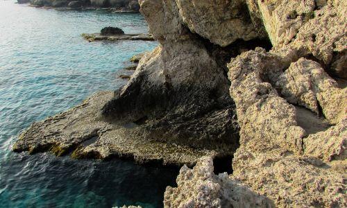 Kipras,ayia napa,uolos pakrantė,uolos,jūra,gamta,laukiniai,pakrantė