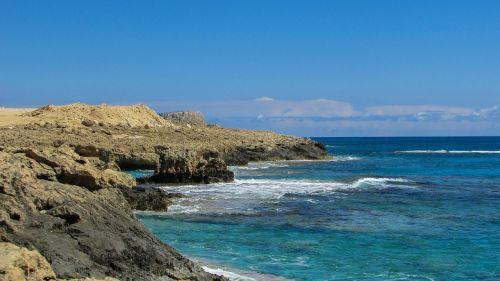 Kipras,cavo greko,uolos pakrantė,aišku,kristalas,vanduo,pakrantė