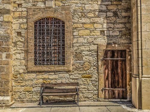 Kipras,athienou,ayios georgios,durys,medinis,langas,stendas,bažnyčia,senas,ortodoksas,religija,architektūra,krikščionybė