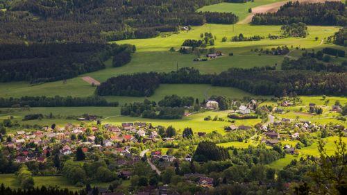 kaimas, Šalis, čekų, kraštovaizdis, kaimas, laukas, žalias, vaizdas, miškas, kaimas, bohemija, Europa, peizažas, vaizdingas, lauke, pastatas, Čekijos kraštovaizdis