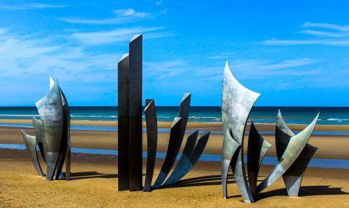 D-diena,Antrasis Pasaulinis Karas,Normandija,france,savoha beach,paminklas,nusileidimas,1944,kariuomenė,sąjungininkas,invazija,istorija