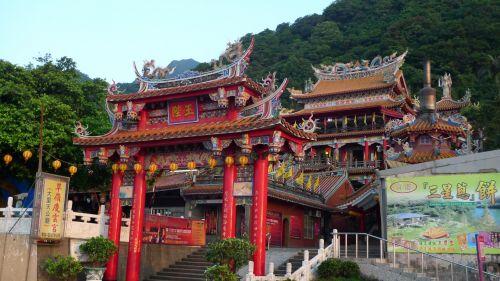 dali & nbsp, tiengung & nbsp, šventykla, daoistinė & nbsp, šventykla, Taoist & nbsp, šventykla, pakrantė & nbsp, kelio, ilanas ir apskritis, Taivanas, dali tiengung šventykla