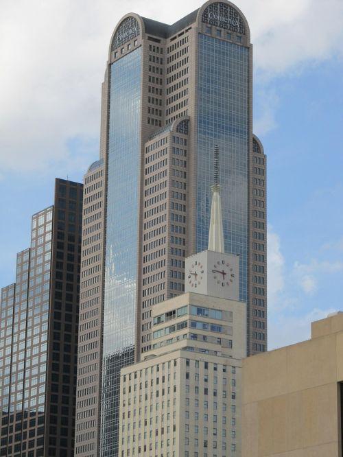 Dallas skyline,Dallas,pastatai,centro,biuro pastatai,stiklo fasadas,pastatas,aukštybiniai pastatai,architektūra,texas,miesto,biuras,dangoraižis,miesto panorama,bokštas,įmonės,komercija,verslas,panorama