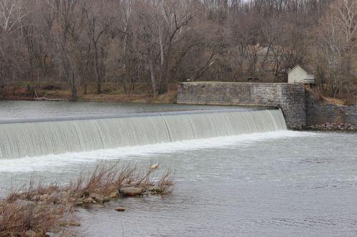 užtvankos, vanduo, kritimo, wv, Vakarų Virginia, williamsport, Maryland, md, Martinsburgas, užtvankos numeris 4