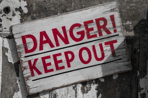 ženklas, pavojus, out, mediena, medinis, laikyti, areštas, raudona, pavojus