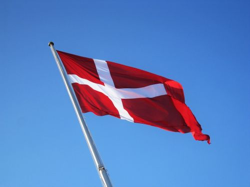 Danijos vėliava,denmark,danish,vėliava,Tautinė vėliava,mėlynas dangus,geflaggt
