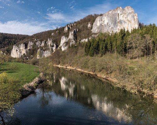 Dunojaus, dunojus slėnis, Hausen, kalkių uolienų, vandenys, kalnų, pobūdį, kraštovaizdis