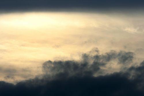 dangus, debesys, laisvas, tamsi, per naktį, lygus, šviesa, lašiša, saulėlydis, tamsi ir šviesi danguje