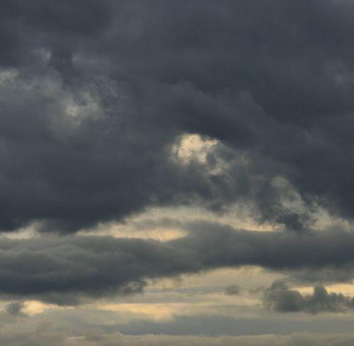 dangus, debesys, tamsi, broody, saulėlydis, šviesa, dryželiai, tamsi debesė užpildė dangų