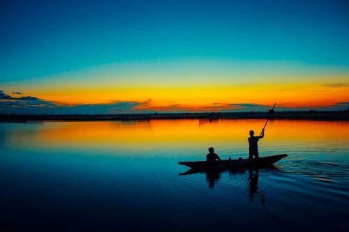 aušra, Vietnamas, atspalvis, provincija, saulėtekis, valtis, amateurpic, žvejys, Aušra