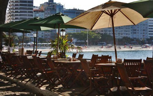 aušra,pusryčiai,papludimys,Rio de Žaneiras,copacabana,diena,nuostabi diena,vaikščioti,stalai,baras,beira mar,copacabana fortas