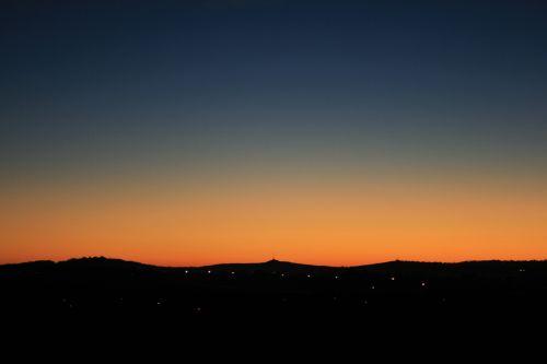 panorama, aušra, minkštas, rožinis, švytėjimas, horizontas, Aušra artėja