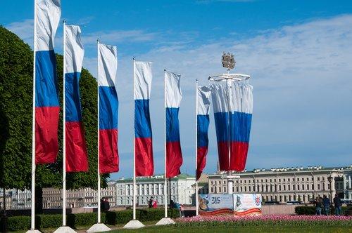 dieną į miestą, Rusijos vėliava, narės vėliava, vėliava, trispalvė, rusų vėliavos, šventė, St Petersburg RUSIJA, Rusija, projektavimo, Peter, SPB