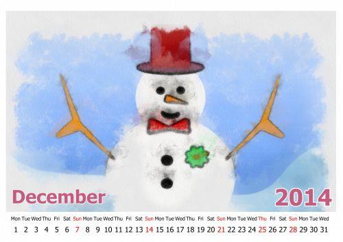 kalendorius, 2014, mėnuo, siena, izoliuotas, data, dokumentas, kabantis, diena, horizontalus, organizatorius, iliustracija, objektas, numeris, laikas, stalas, planavimas, tekstas, Asmeninis, dažymas, popierius, organizacija, savaitę, fonas, vienas, metai, gruodžio mėn ., sniego senis, Kalėdos, 2014 m. gruodžio mėn. kalendorius