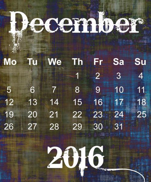 gruodžio mėn ., 2016, kalendorius, plakatas, Grunge, abstraktus, tapetai, data, diena, laikas, mėnuo, kas mėnesį, savaitę, organizatorius, biuras, namai, planuotojas, dizainas, įvykis & nbsp, planuotojas, tvarkaraštis, gruodžio mėn. grunge kalendorius