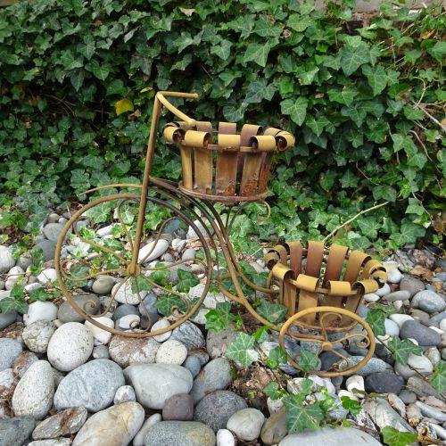 deko, dekoratyvinis, dviratis, galinis kiemas, sodas, deko bike