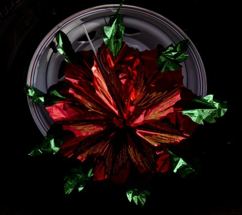 padanga, apdaila, paradas, raudona, žalias, šventė, folija, dekoruota padanga
