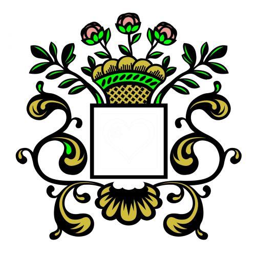 rėmas, deko, dekoratyvinis, juoda, auksas, rožės, kampas, retro, dekoratyvinis, dekoratyvinis rėmas ii