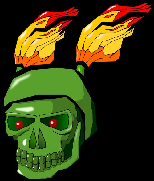 demonas,kaukolė,monstras,velnias,kaulai,mirtis,Ugnis,liepsnos,žalias,nemokama vektorinė grafika