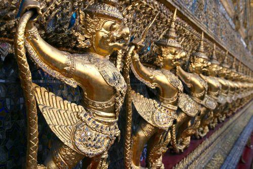 demonai,modelis,pakartoti,perspektyva,modeliai,sienos,dizainas,tajų,šventykla,Tailandas,Tai šventykla,religija,budizmas,Bangkokas,Tailando šventykla,bhuddistinė šventykla,tradicinis,siam