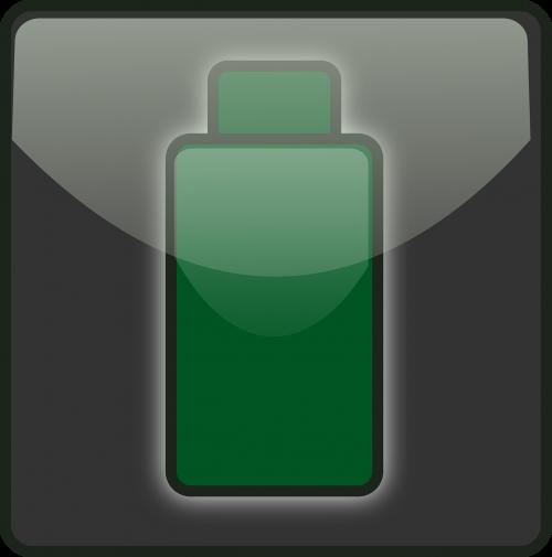 išeikvota,baterija,žalias,galia,statusas,maža baterija,mažai energijos,pakrovimas,Pakraunama baterija,mažas lazda,tuščia,piktograma,nemokama vektorinė grafika