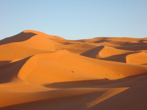 Dykuma, Smėlio Kopa, Kopos, Smėlis, Sahara, Sausas, Dykuma, Marokas