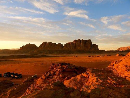 Dykuma,  Saulėlydžio,  Smėlis,  Wadi,  Romas,  Jordan,  Kraštovaizdis,  Raudonas