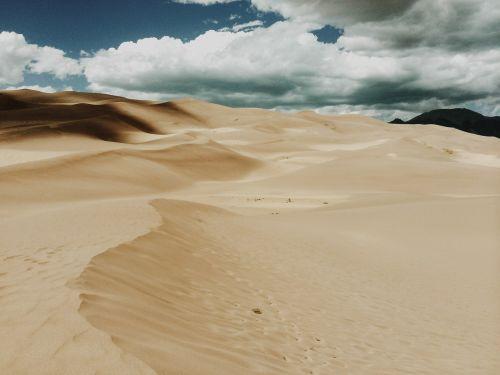 dykuma,smėlis,dramatiškas,debesys,kopos,dykuma,sausas,gamta,kraštovaizdis,sahara,vaizdingas,dangus,kalvos