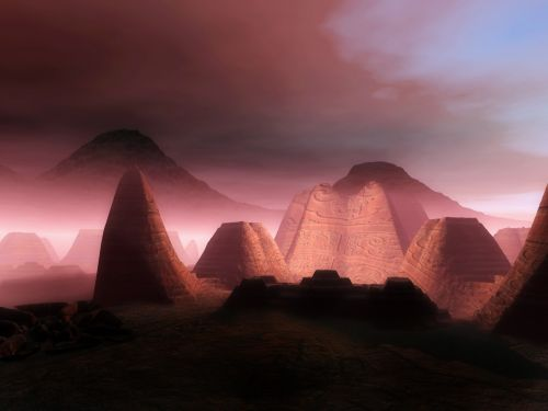 dykuma, svajones, griuvėsiai, senovės, rūkas, migla, tamsi, dykumos svajonės 1