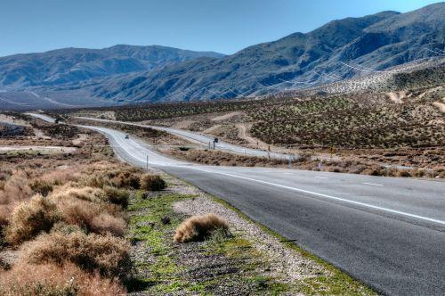 dykuma, Kalifornija, greitkelis, kelias, kraštovaizdis, kelionė, dykumos greitkelis