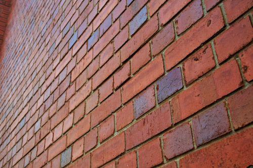 siena, plytos, raudona, eilutės, įstrižainė, pasikartojimas, įstrižainė plytų sienos vaizdas