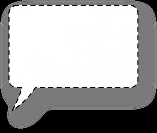 dialogo langas,burbulas,kvadratas,punktyrinė linija,tablėtė,citata,mąstymas,pokalbis,tuščias,nemokama vektorinė grafika