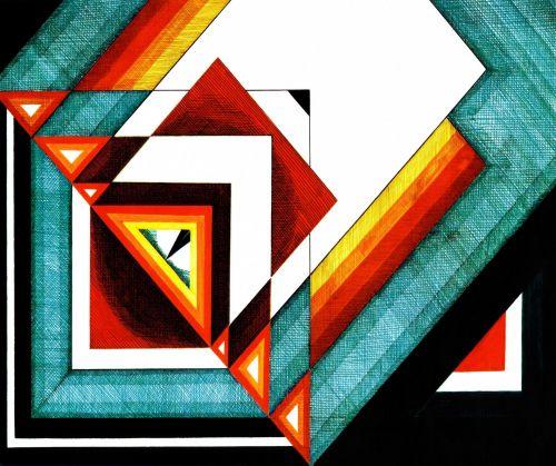 abstraktus, tradicinė & nbsp, žiniasklaida, meno kūriniai, deimantas, deimantas