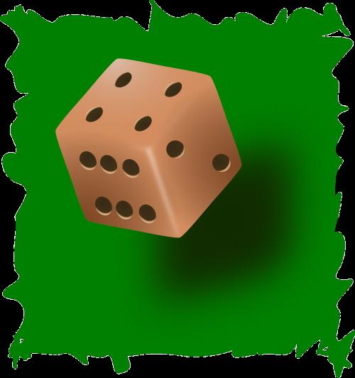 kauliukai,Roll,žaidimas,numeris,azartiniai lošimai,tikimybė,lošti,sėkmė,kubas,lažybos,jackpota,nemokama vektorinė grafika