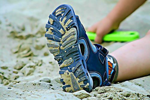 skaitmeninis,grafika,batai,sandalai,vaikas,sandbox,vaidina