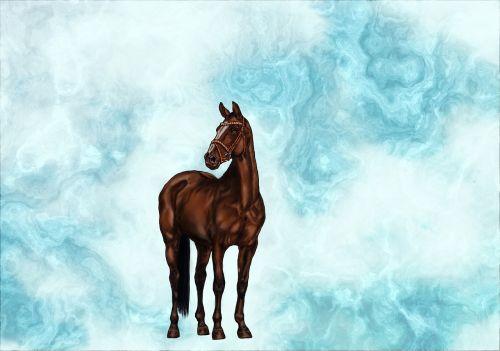 skaitmeniniai meno kūriniai,dažymas,arklys,ruda,menas,įlanka,piešimas