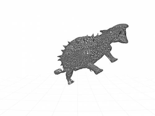 3d, piešimas, dino, dinozauras, juoda, oda, balta, fonas, dinozauras