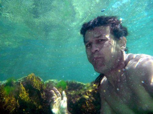 povandeninis, maudytis, vyras, kvėpavimas & nbsp, rifas, kelpimas, jūra, nardymas ant rifo
