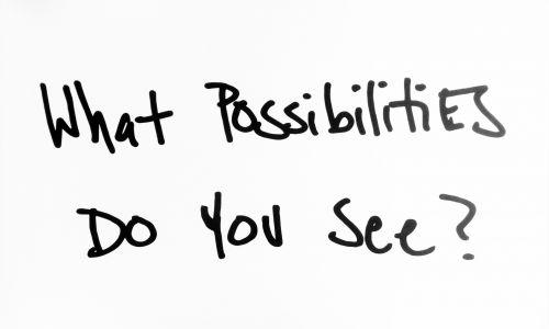 įkvėpimas, galimybės, ženklas, ženklai, juoda & nbsp, balta, ar matai galimybes?