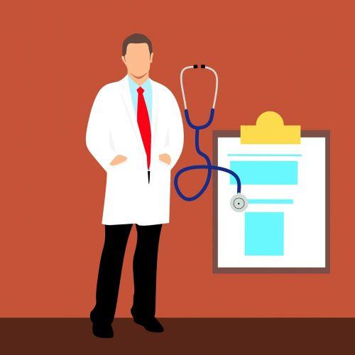 gydytojas, Patikrinti, sveikata, animacinis filmas, diagrama, klinika, iškarpinę, kailis, komiksai, medicinos, ligoninė, darbas, Patinas, vyras, medicina, profesija, be honoraro mokesčio, be honoraro mokesčio